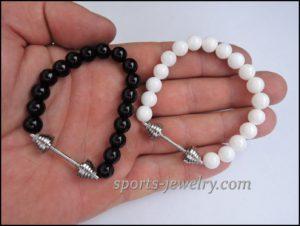 Crossfit jewelry Dumbbell bracelet charm