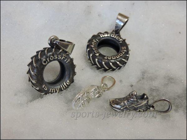 Crossfit jewelry Tyre pendant