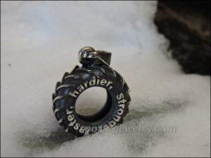 Crossfit jewelry Tyre pendant Crossfit gift