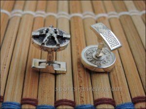 Deadlift cufflinks Weightlifting jewelry