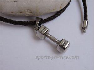 Dumbbell pendant stainless steel chain
