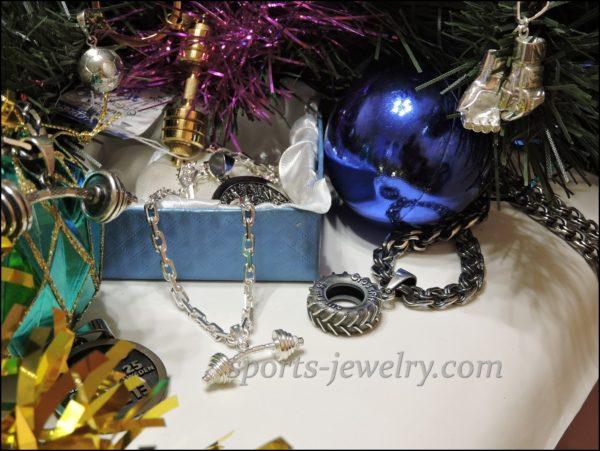 Fitness gifts for christmas Dumbbell pendant