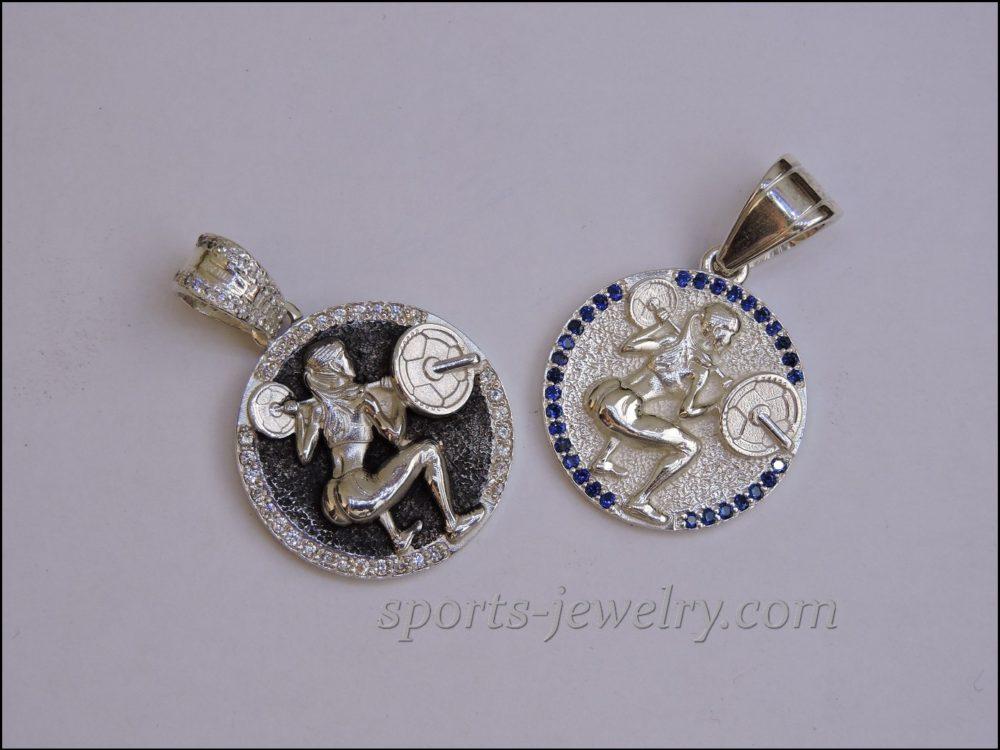 Fitness girl gifts pendant..