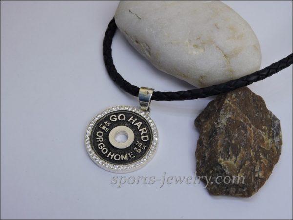 Fitness jewelry Barbell keychain photo