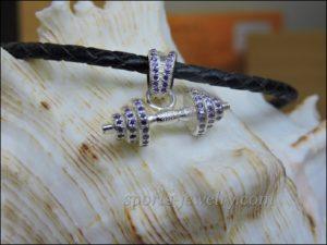 Fitness jewelry Barbell pendant photo