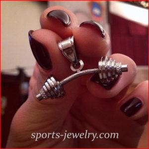 Fitness jewelry charms photo
