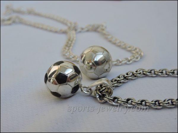 Football ball pendant necklace