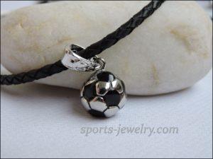Football ball pendant stainless steel photo