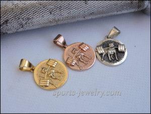 Gold Pitbull pendant