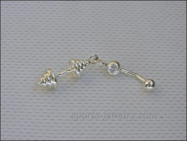 Gym gifts Fitness jewelry photo