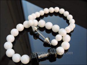 Gym jewelry Bracelet dumbbell