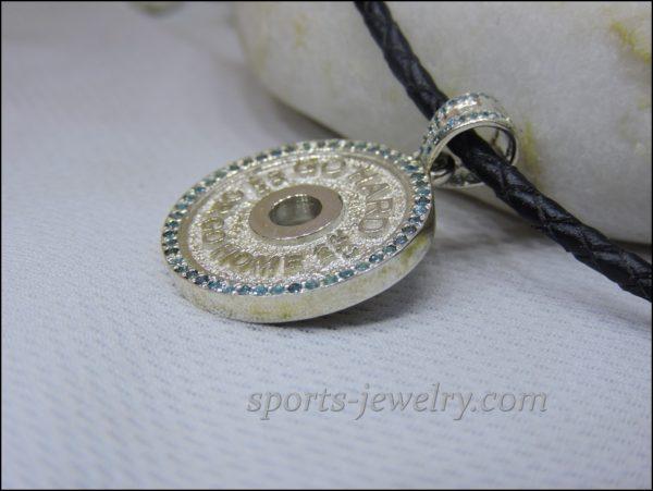 Gym necklace Fitness jewelry photo