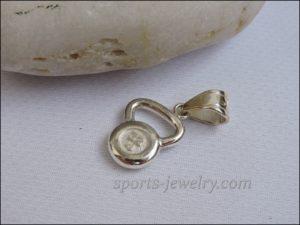 Kettlebell jewelry Weight pendant