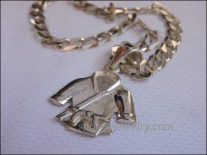 Kimono pendant silver