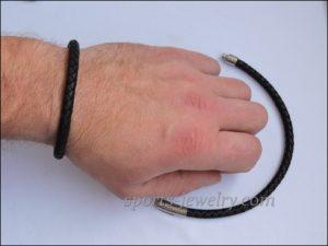 Leather bracelet photo
