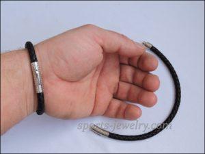 Leather bracelet stainless steel
