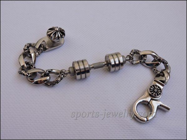 Mens sports bracelets Bracelet barbell cheap