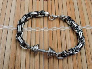 Mens sports bracelets Bracelet barbell photo