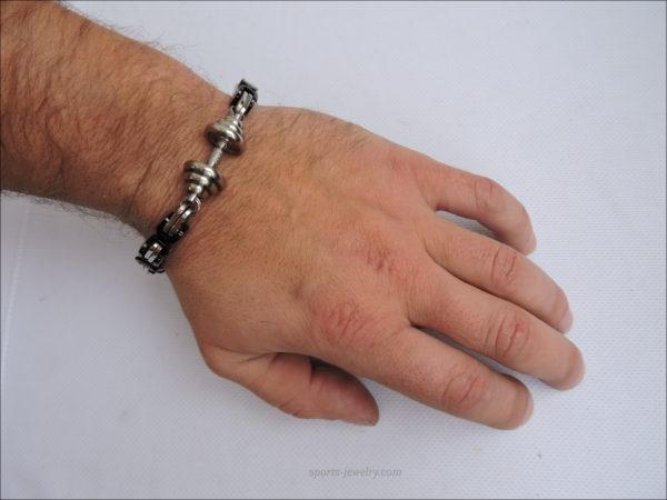 Mens sports bracelets silver