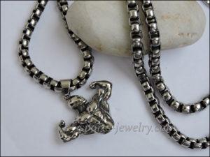 Necklace steel . sports jewelry