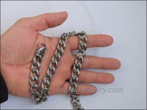 Necklace steel black