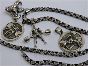 Necklace steel sports jewelry