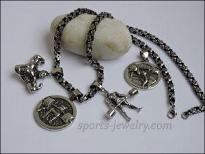 Necklace steel sports jewelry..
