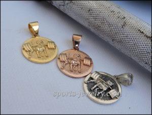 Pitbull pendant Gold