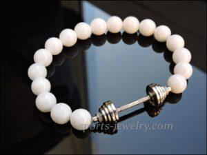 Powerlifting gift Bracelet dumbbell