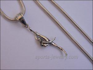 Silver Gymnast pendant