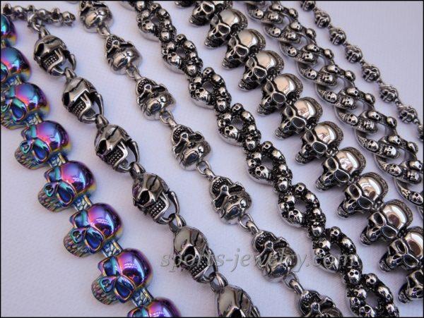 Skull bracelets Sports jewelry