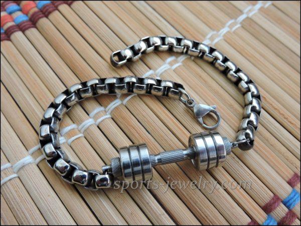 Sports bracelets for men Bracelet barbell stainless steel