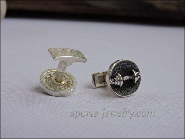 Sports cufflinks Dumbbell cufflinks