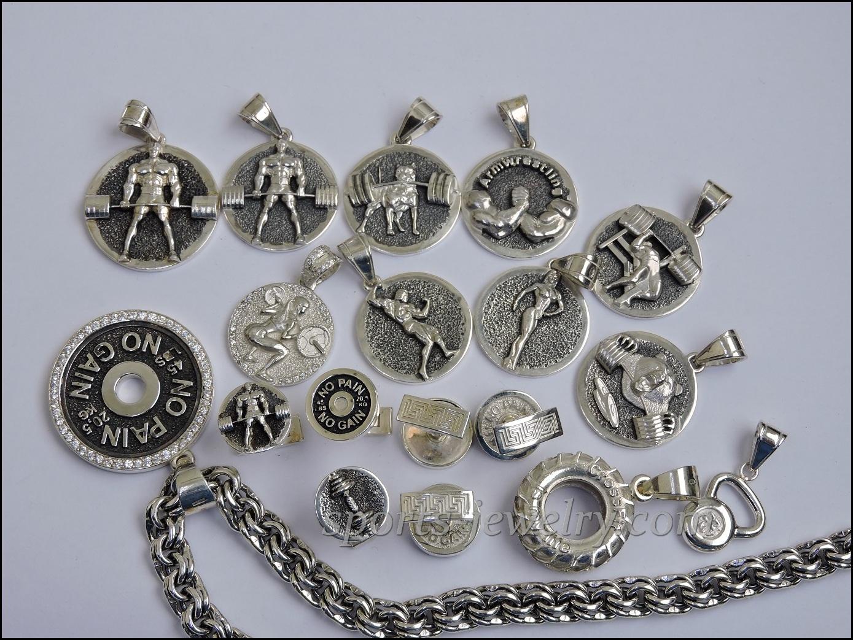 Sports cufflinks Fitness gift Sports jewelry