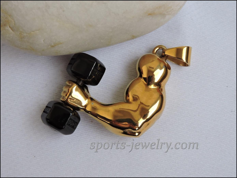 Sports gift Bicep pendant Dumbbell pendant
