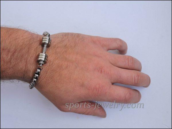 Sports gift Bracelet barbell stainless steel