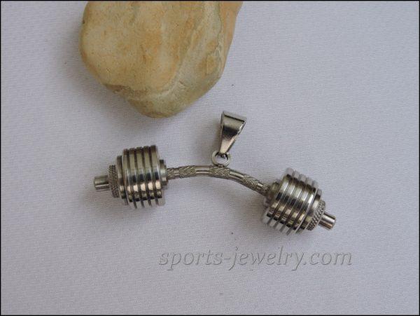 Sports gift Dumbbell pendant