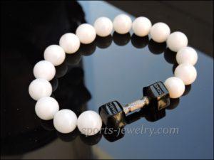 Sports jewelry Bracelet dumbbell