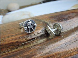 Sports jewelry Deadlift cufflinks