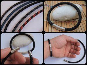 Sports jewelry Leather bracelet