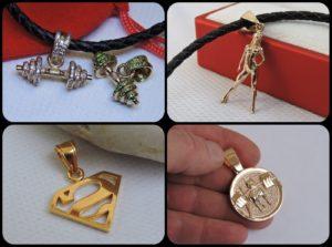 Sports jewelry gold