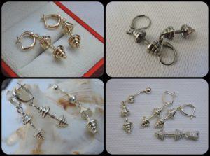 Sports jewelry sports earrings