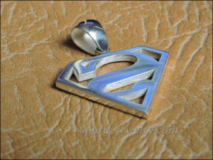 Superman necklace Superman pendant