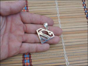 Superman pendant Superman chain