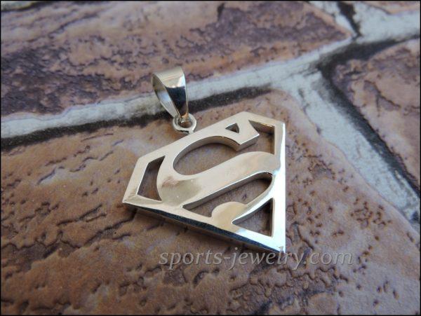 Superman pendant Superman silver pendant
