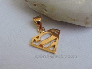 Superman pendant gold buy