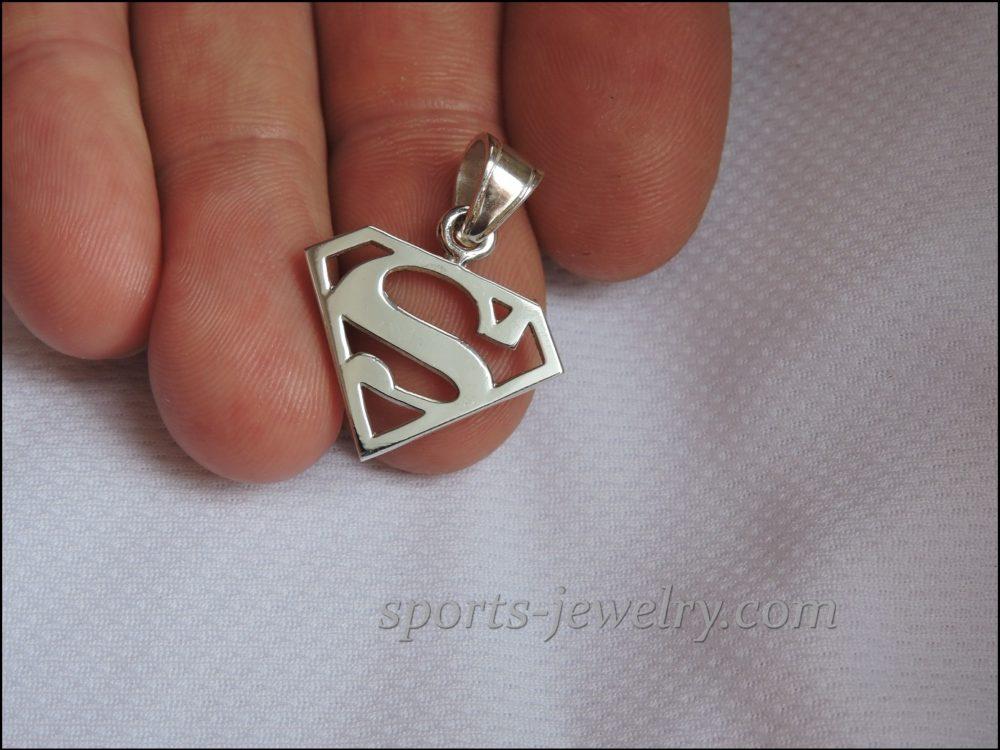 Superman silver pendant