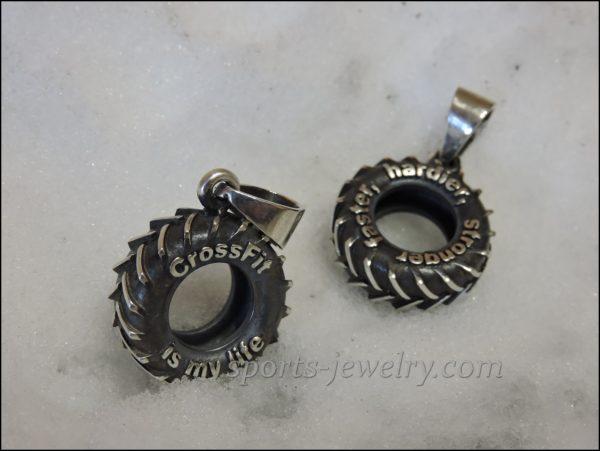 Tyre-pendant-Crossfit-jewelry