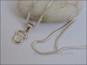 Weight pendant Kettlebell jewelry