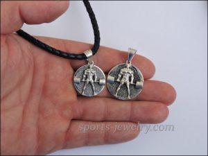 Weight plate necklace Fitness jewelry bracelet